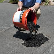 #2 Fill Pothole With Aquaphalt