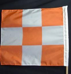 Orange/White Checkered Airport Flag 36″x36″