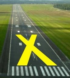 Runway closure tarp