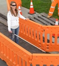 ADA Compliant Pedestrian Barricade