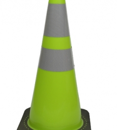 "28 "" lime green traffic cone with reflective collars"