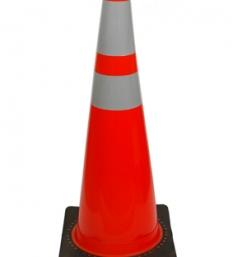 Orange Traffic Cone with Reflective Collars